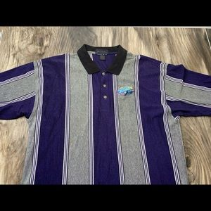 VTG 1998 Tampa Bay Devil Rays striped polo XL USA